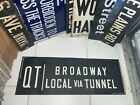 VINTAGE COLLECTIBLE NYC SUBWAY SIGN QT BROADWAY LOCAL TUNNEL URBAN NY ROLL SIGN