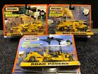 Mattel Matchbox Dirt Machines 3 Pack Sets Cat Road Pavers Earth Haulers