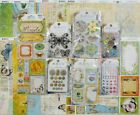 Bo Bunny Country Garden Scrapbook Kit Lot 12x12 12 Sheets  Embellishments