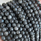 Black Moonstone Larvikite Labradorite Loose Beads Round Gemstone 6mm 8mm 10mm