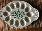 Lenox China Holiday Pattern Oval Deviled Egg Platter NEW holly berries nice xmas