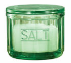 Depression Style Glass Salt Cellar with Lid Classic Green