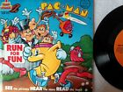 PAC-MAN RUN FOR FUN KSR 995 Kid Stuff Read Along Book Record Set Near Mint NM