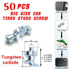 50xTungsten carbide Car Tires Stud For Holes Tire Screw Snow Spikes Wheel Chain