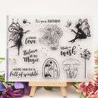 Fairy Girl Words Transparent Clear Rubber Stamp Diary Scrapbooking DIY Decor