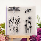 Dragonflies Dandelion Transparent Clear Rubber Stamp Diary Scrapbooking DIY
