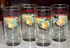 Set of 4 Anchor Hocking Fruit Pattern Tumblers, Thick Glass  6