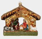 Nativity Scene Religious Polish Mouth Blown Glass Christmas Ornament Decoration