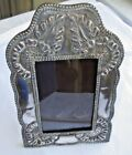 LATE 19TH CENTURY SPANISH FINE SILVER FRAME FOR PHOTOS ETC 8 1/2 IN X 5 1/4 IN