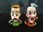 Vintage Big Headed Couple by Enesco Salt and Pepper Shakers