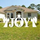 VictoryStore Yard Sign Outdoor Lawn Decorations Joy Nativity Scene Christmas L