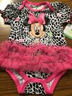 Disney babies Minnie Mouse One Piece Outfit Infant Girls 3 6m 6m NEW