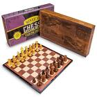 Wooden Chess Set  Classic Strategy Game Folding Wooden Chess Board
