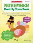 Monthly Idea Book November Monthly Idea Book  Ready To Use Templates
