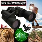 Waterproof HD 180x100 Zoom Military Binoculars Optics Hunting Camping Day Night