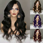 Long Synthetic Lace Wig Long Wavy Wigs Body Wave Women's Heat Resistant Hair US