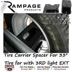 86616 Rampage Spare Tire Carrier Spacer For 33 Tire for Jeep with 3RD light EXT