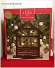 Lenox First Blessing Creche 165 Dark Brown Wooden Nativity Stable New in Box