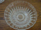 SIX VINTAGE CLEAR SANDWICH GLASS BERRY BOWLS