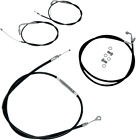 LA-8100KT-04B LA Choppers Cable/Brake Line Kit Beach Bars & Extra Wide Black
