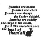 Verses Rubber Stamps Chocolate Bunnies Easter S 6 NEW