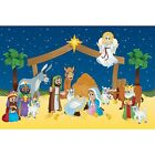 IN 13754141 Design A Room Nativity Characters Backdrop Set
