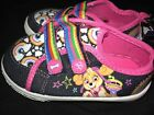 toddler girl SHOES size 11 PAW PATROL RAINBOWS CLOUDS STARS colorful easy on off