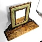 Antique Mirror Wooden Shelf With Mirror Home Decor Wall Hanging Wood Brown