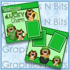 YOURE MY LUCKY CHARM 2 Premade Printed Scrapbook Pages 0603