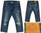 RALPH LAUREN RUGBY Vintage Distressed Destroyed Button Fly Jeans 32x28 RARE