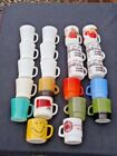 Vintage Fire King Federal Glasbak Cafe Milk Glass 22 PC MUG CUP LOT C/D Handles
