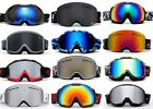 Men Ski Goggles Anti Fog Dual Lens UV Protection professional Gear  with POUCH!!