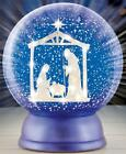 Starry Night Christmas Nativity Scene Lighted Snow Globe Collectible Figurine 7
