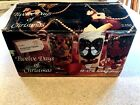 Vintage Twelve Days of Christmas Glass Set Indiana Glass Original Box COMPLETE