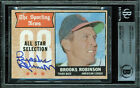 Orioles Brooks Robinson Authentic Signed 1968 Topps #365 Auto Card BAS Slabbed