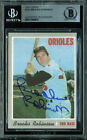 Orioles Brooks Robinson Authentic Signed 1970 Topps #230 Auto Card BAS Slabbed