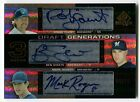 2004 SP Prospects ROBIN YOUNT Ben Sheets MARK ROGERS RC Draft Triple Auto # 25