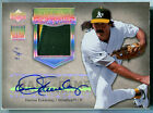 2005 UD Hall of Fame Seasons DENNIS ECKERSLEY Rainbow Auto 2 Color Patch SP #1 1