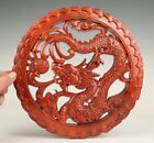 Vintage ChinA Wood Paintings Old Hand-Carved Sacred Dragon Crafts Mascot Gift