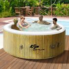 4 Person Portable Inflatable Hot Tub Spa Pool Jacuzzi Jet Bubble Massage Luxury