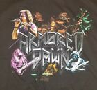 Armored Dawn Rock Power Metal Concourt Tour T-Shirt Black Adult Large Rare!!