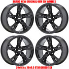 20x85 20x95 Chevrolet Camaro SS black wheels rims Factory OEM set 4 2019 2020