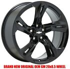 20x85 Chevrolet Camaro SS Black wheel rim Factory OEM 2019 2020 front 20 5874