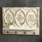 Colonial Country new carved wood wall shelf with hooks