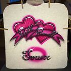 FOREVER HEART Airbrushed T shirt Personalized All Sizes Up To 6X