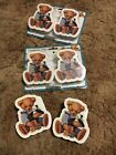2 Packs Vintage Blue Jean Teddy Bear Nursery Baby Comforter Quilt Wall Clips