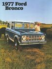 1977 FORD BRONCO SALES BROCHURE