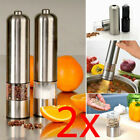 2pc Electric Salt Pepper Grinder Automatic Mill Shakers Stainless steel