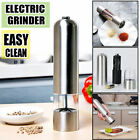 Electric Stainless Steel Manual Salt Pepper Mill Herb Spice Grinder Shaker