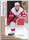 18-19 SP Game Used Dennis Cholowski /499 Jersey Rookie Red Wings 2018